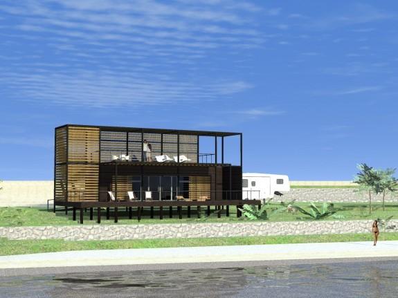 Equipamiento vivienda container for Construccion de piscinas santiago chile